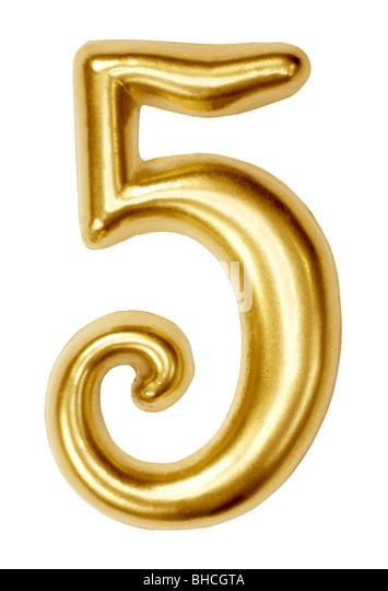 Anzahl Zahlen fünf 5 Symbol Abbildung Ziffer Stockbild