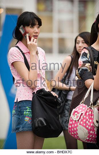 Alltag im Bereich Hype von Soho. Peking, china Stockbild