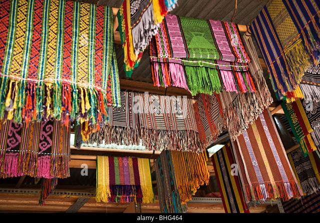 Tais im Markt in Dili Osttimor Stockbild