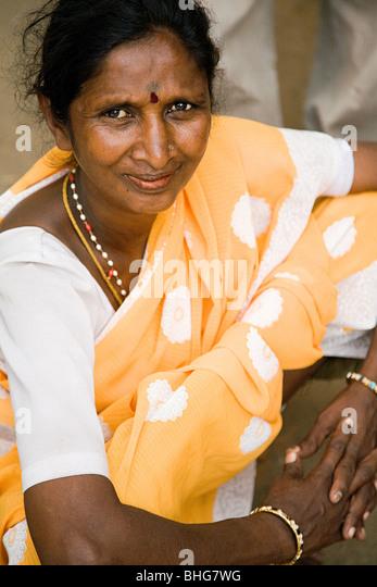 Frau in Mysore, Indien Stockbild