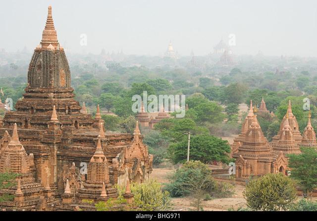 Alte Stadt von Bagan in Myanmar Stockbild