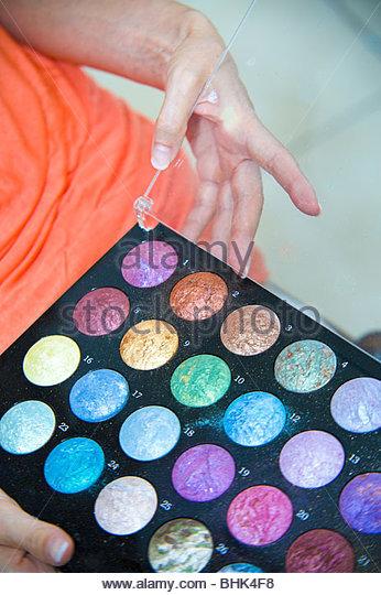 Palette von Make up Farben Stockbild