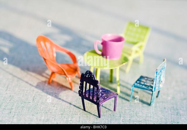 Spielzeug-Patio-Möbel Stockbild