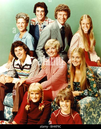 THE BRADY BUNCH - US-TV Serien 1969-74 mit Schulleiter Robert Reed und Florence Henderson Stockbild