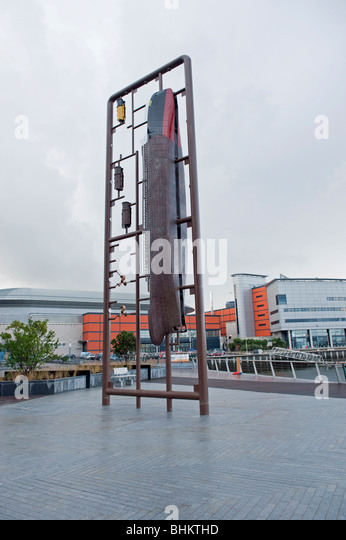 Belfast Titanic Modell Skulptur Stockbild