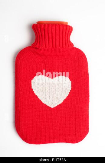 Eine Herz-überdachte Wärmflasche Stockbild