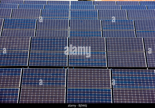 Solar Power Panels Stockbild