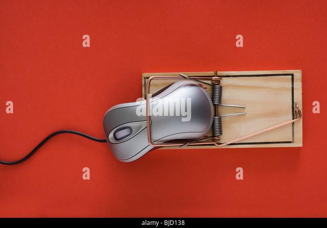 Computer-Mausefalle. Stockbild