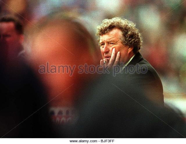 Saison 1997/1998 CELTIC Manager Wim Jansen. Stockbild