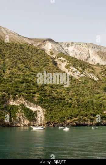 Italien, Sizilien, Liparische Inseln, Insel Vulcano Mit Vulkanberg Gran Cratere | Italien, Sizilien, Liparischen Stockbild