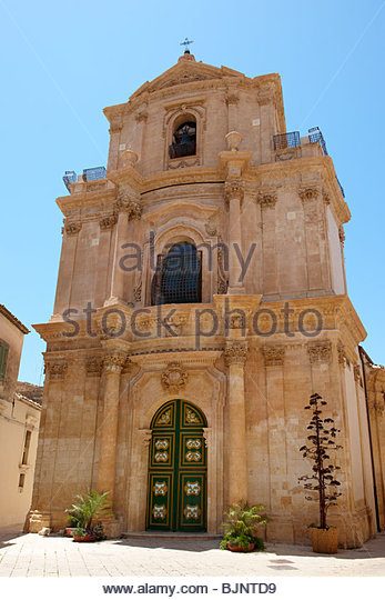 Barockkirche Sizilien, Sizilien Stockbild