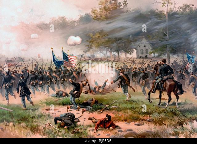 Schlacht von Antietam oder Sharpsburg, kämpften am 17. September 1862 während des Bürgerkriegs in Stockbild