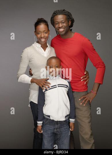 Porträt einer Familie Stockbild