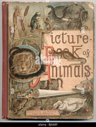 Beispiel des 19. Jahrhunderts Kinder-und Jugendbuch. Stockbild
