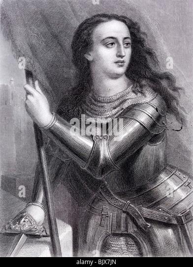 Jeanne d ' Arc oder die Magd von Orléans Nationalheldin Frankreichs und eines katholischen Heiligen St. Stockbild