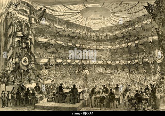 """""""Philadelphia ? der republikanischen Nationalkonvent in Sitzung in der Academy of Music, 5. Juni 1872"""" Stockbild"""