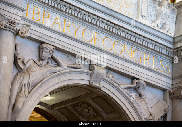 Library of Congress, Washington, DC Stockbild
