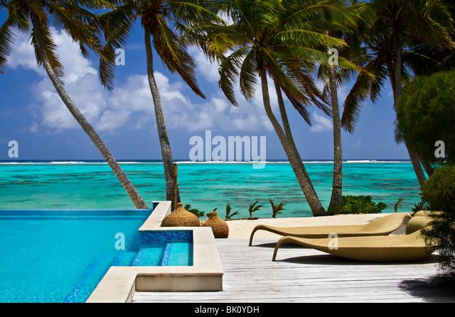 Resort auf Rarotonga, Cook-Inseln Stockbild