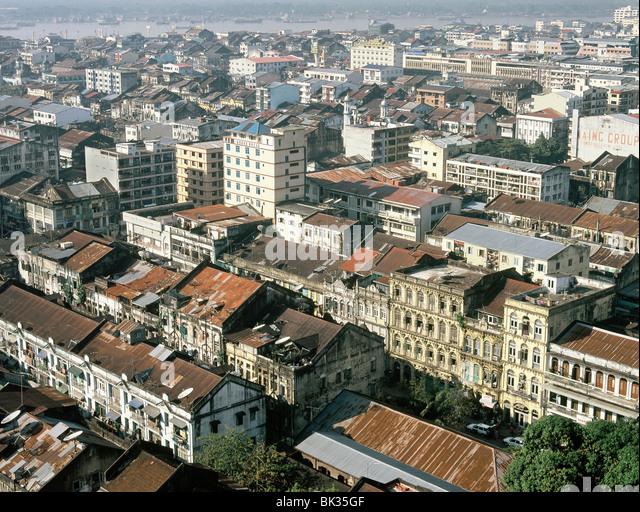 Ansicht von Yangon (Rangoon), Myanmar (Burma), Asien Stockbild