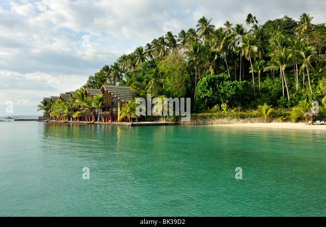 Pearl Farm Resort auf der Insel Samar in Davao, Mindanao, Philippinen, Südostasien, Asien Stockbild