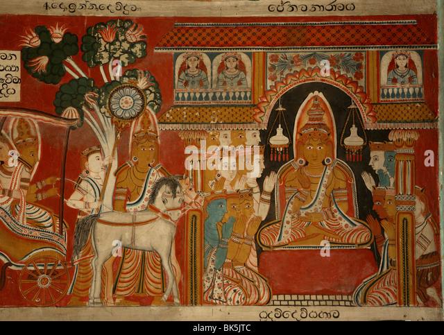 Subodharama Tempel, aus der Mitte des 19. Jahrhunderts, Dehiwala, Colombo, Sri Lanka, Asien Stockbild