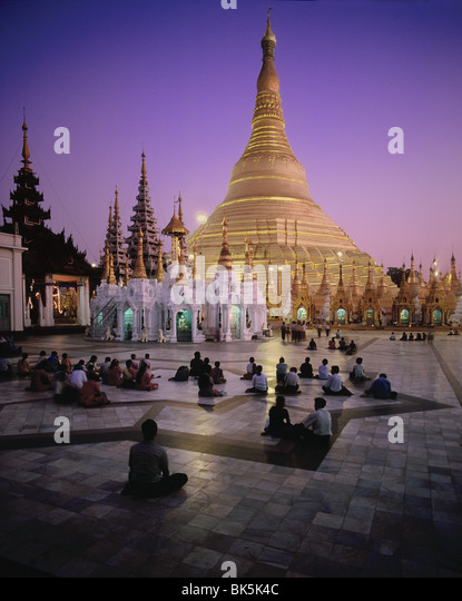Shwedagon-Pagode in Yangon (Rangoon), Myanmar (Burma), Asien Stockbild