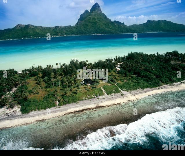 Bora Bora, Gesellschaftsinseln, Französisch-Polynesien, Südsee, Pazifik Stockbild