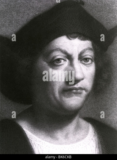 CHRISTOPHER COLUMBUS - Genueser Explorer (1451-1506) Stockbild