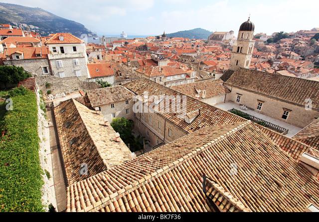 Kloster und Bauten in dubrovnik Stockbild