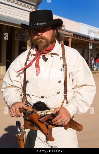 Cowboy Actor, Grabstein, Cochise County, Arizona, Vereinigte Staaten von Amerika, Nordamerika Stockbild