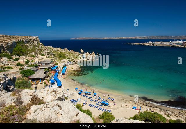 Paradise Bay in Cirkewwa, Malta, Europa Stockbild