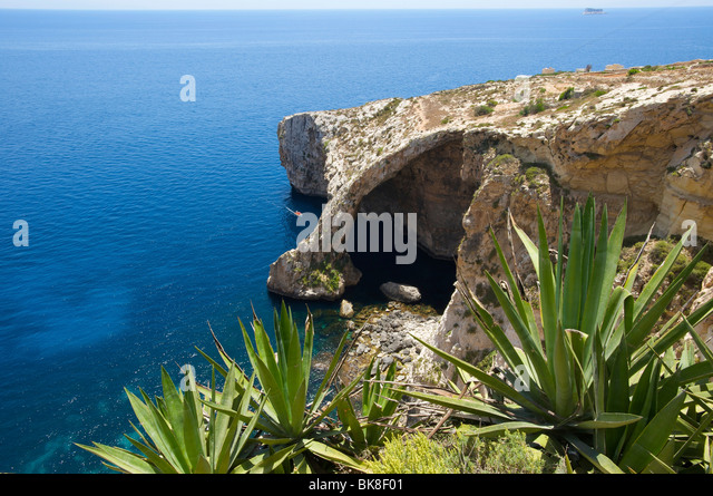Blaue Grotte auf Malta, Europa Stockbild