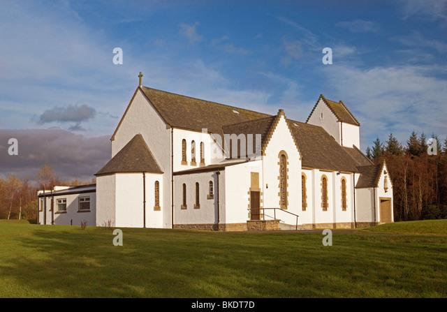 Katholische Kirche des Heiligen Namens, Oakley in der Nähe von Dunfermline Stockbild