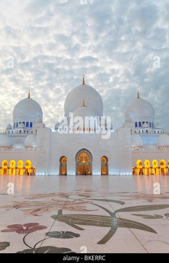 Scheich Zayed Bin Sultan Al Nahyan Moschee in Abu Dhabi, Vereinigte Arabische Emirate, Vereinigte Arabische Emirate Stockbild