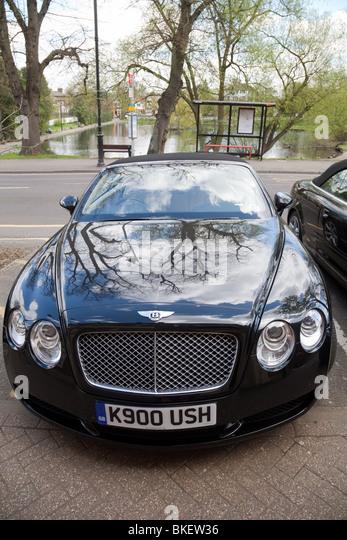Ein Bentley Continental, von vorne Stockbild