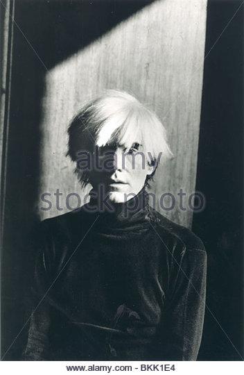 ANDY WARHOL PORTRAIT Stockbild