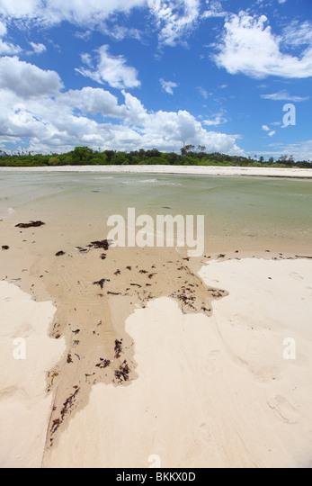 Mombasa, Kenia, Afrika, Diani Beach, Indischer Ozean, Beginn des Kongo-Flusses, Ukunda Stockbild