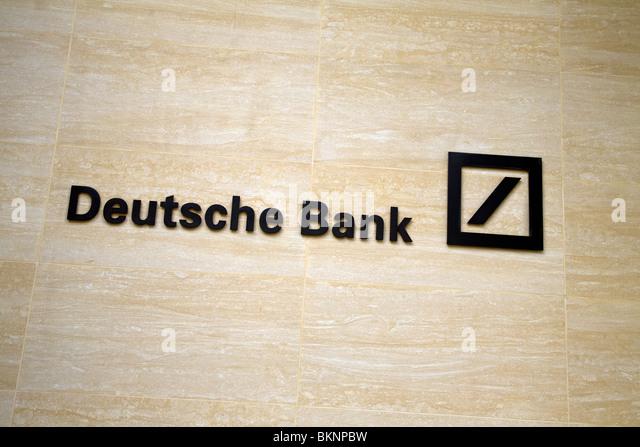 Deutsche Bank Zeichen, London, England Stockbild
