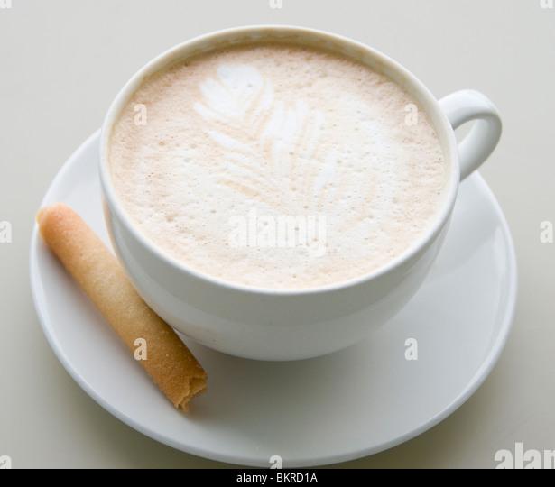 Kaffee und Keks Stockbild