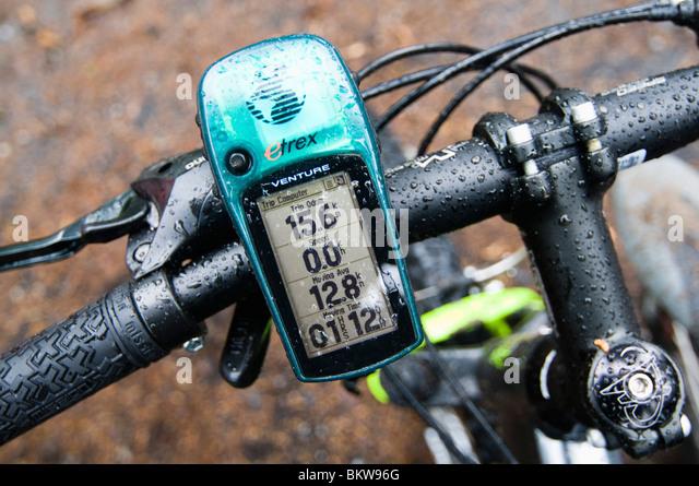 Calibrater auf Fahrrad Stockbild