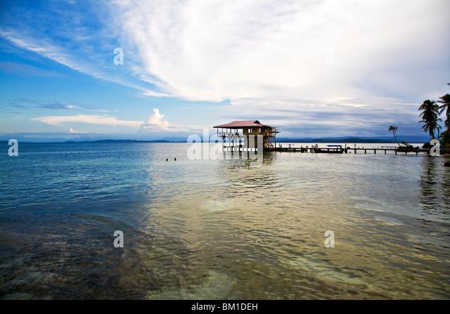 Carenero Insel (Isla Carenero), Bocas del Toro Provinz, Panama, Mittelamerika Stockbild