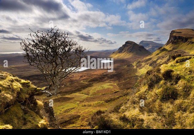 Trotternish von Quiraing, Isle Of Skye, innere Hebriden, Schottisches Hochland, Schottland, UK Stockbild