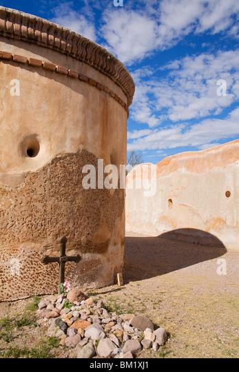 Tumacacori National Historical Park, größere Tucson Region, Arizona, Vereinigte Staaten von Amerika, Nordamerika Stockbild