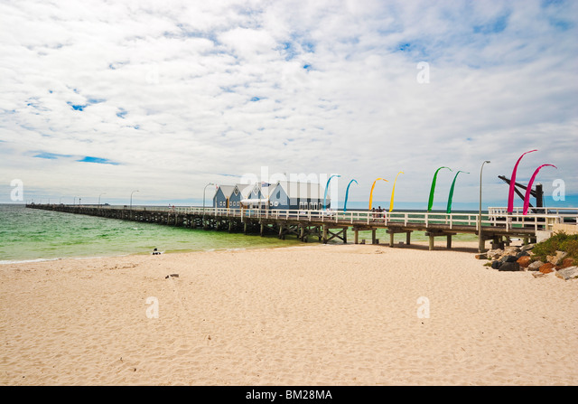 Die Busselton Jetty, die längste in der südlichen Hemisphäre Busselton, Australien Stockbild