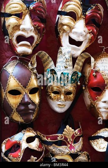 Venedig - traditionellen venezianischen Karnevalsmasken Stockbild