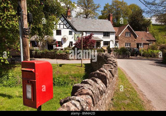 Großbritannien, England, Herefordshire, Carey, Cottage of Content, Dorfkneipe Stockbild