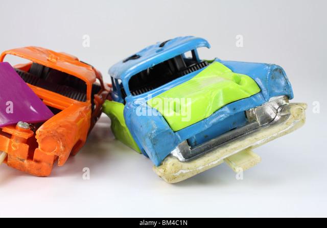 Junk-e-Spielzeugautos Stockbild