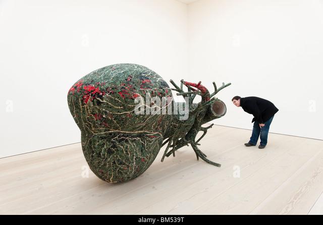 Zeitgenössische Kunst in der Saatchi Gallery, London, England, Großbritannien, UK Stockbild