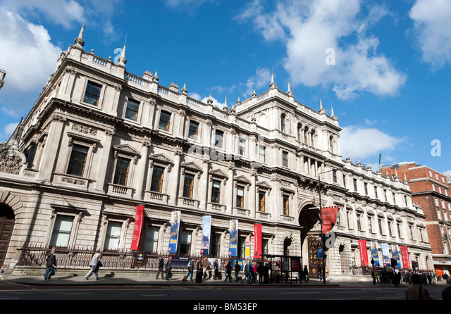 Royal Academy of Arts, Piccadilly, London, England, Vereinigtes Königreich Stockbild