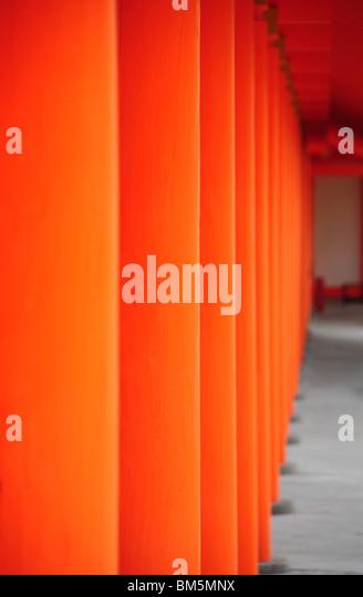 Teil des Tempels in Japan, Kyoto-Stadt Stockbild